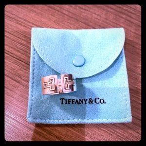 "Tiffany ""T"" ring sterling silver"